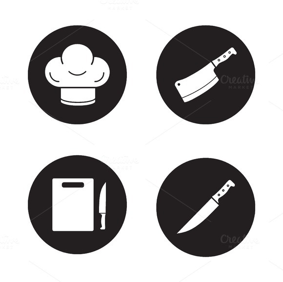 Chef Cooking Tools Icons Vector