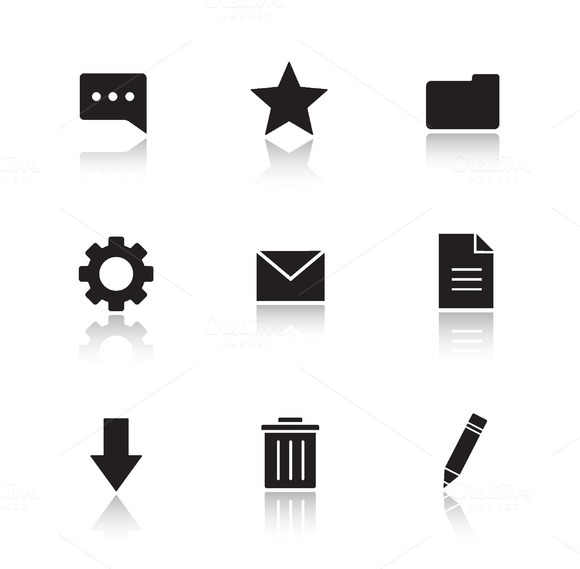 File manager icons. Vector - Icons