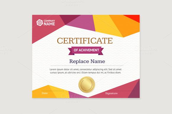Certificate Template. Vector - Illustrations