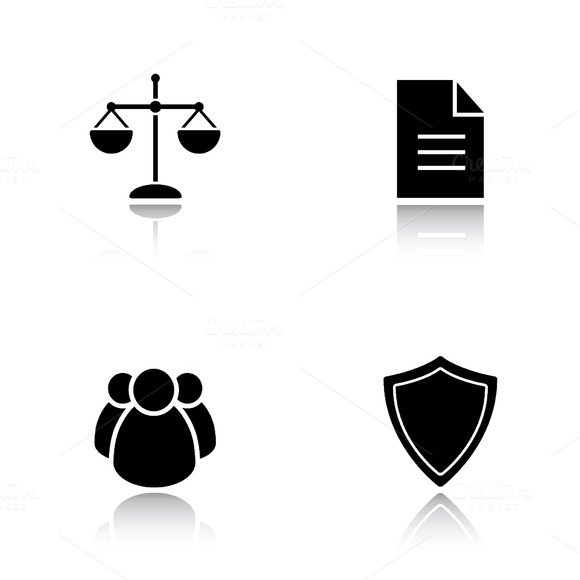 Lawyer icons. Vector - Icons