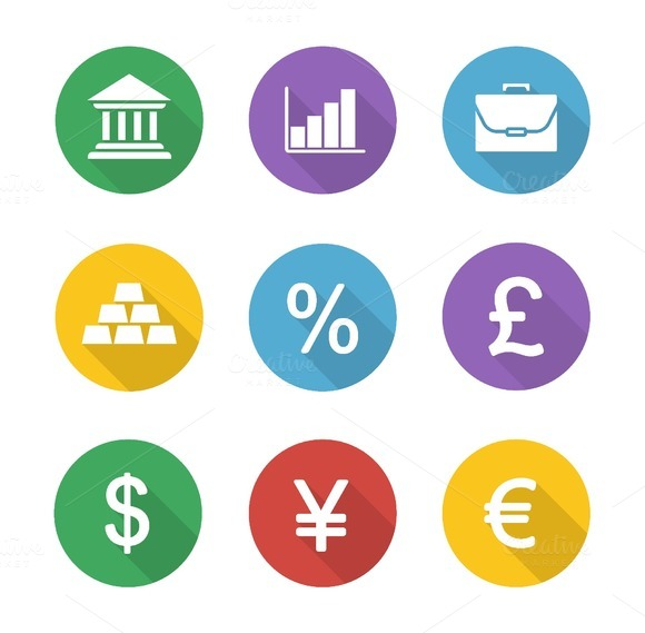 Finance and banking icons. Vector - Icons