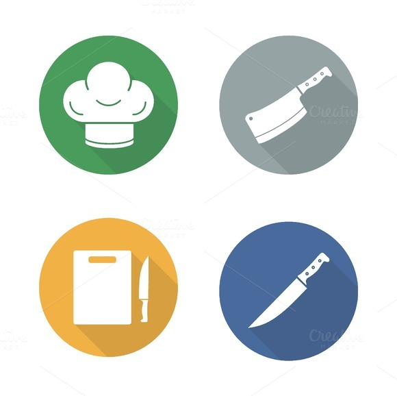 Chef tools icons. Vector - Icons