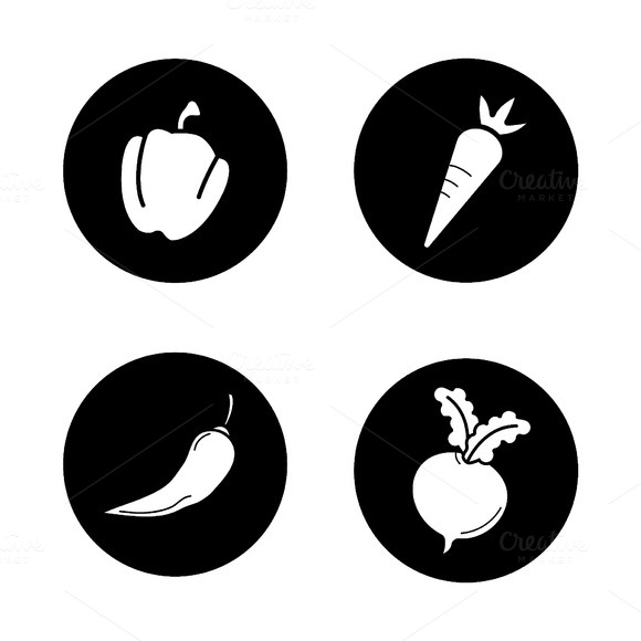 Vegetables icons. Vector - Icons