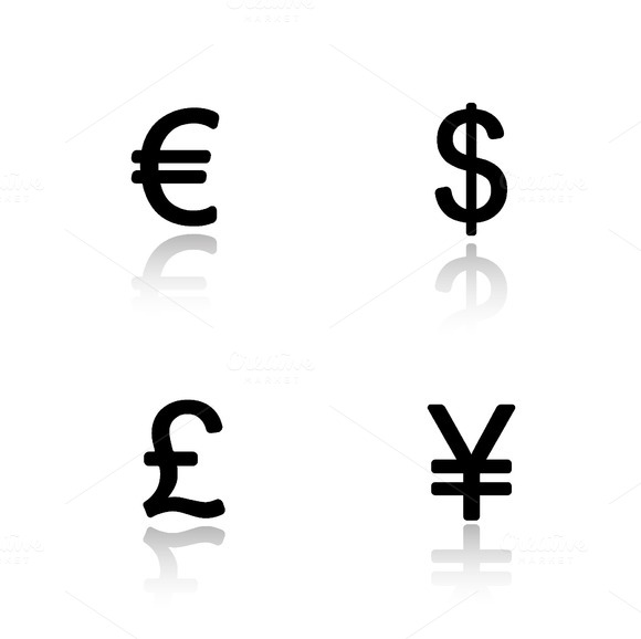 Currency symbols icons. Vector - Icons