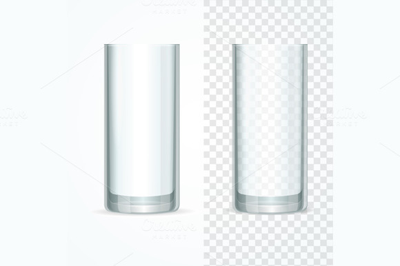 Transparent Glass Set. Vector - Objects