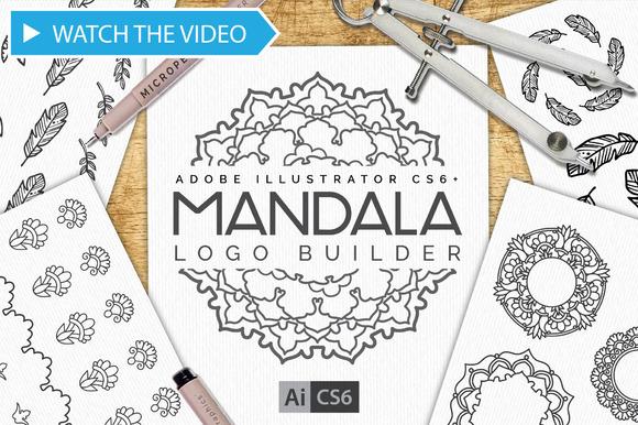 Mandala Logo Creator Kit CS6+ $15