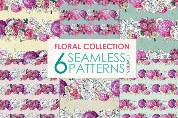 Floral Pattern Collection Vol. 11 - Patterns