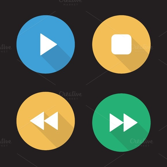 Media player icons. Vector - Icons