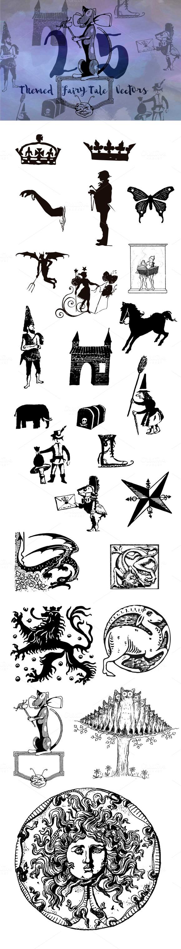 25 Fairy Tale Themed Vectors