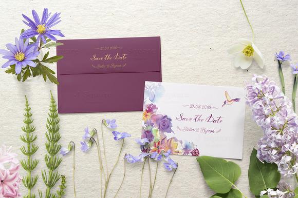 3.5x5 Card & Square Envelope MockUp - Product Mockups