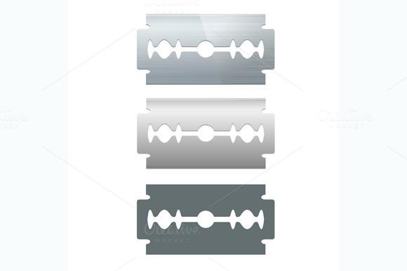 Razor Blade Set. Vector - Objects