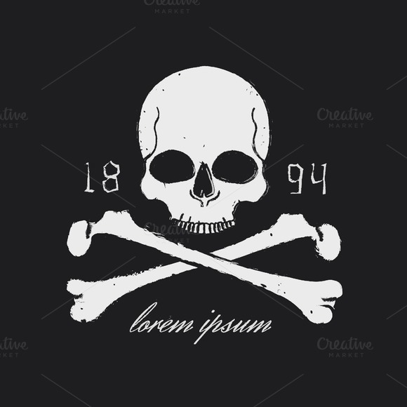 Skull and crossbones icon. Vector - Illustrations