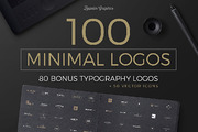 100 Minimal Logos + BONUS-Graphicriver中文最全的素材分享平台