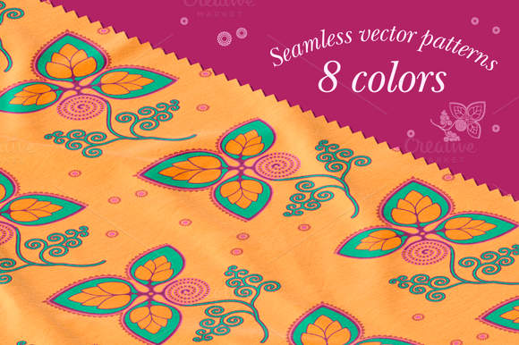 Seamless vector patterns. 8 colors - Patterns