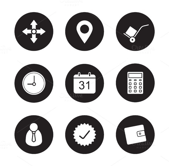 Transportation service icons. Vector - Icons