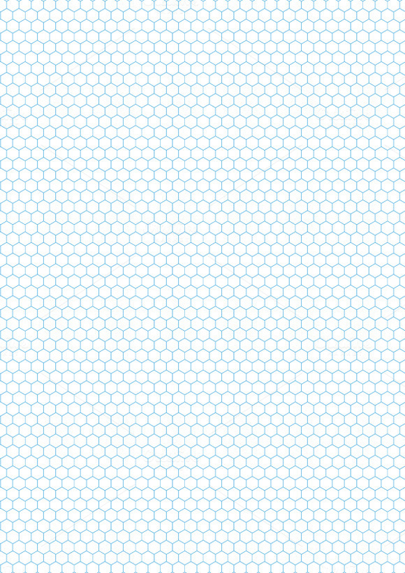 Cyan color hexagon grid on white - Patterns