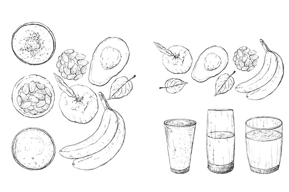 Smoothie. Healthy food. - Illustrations