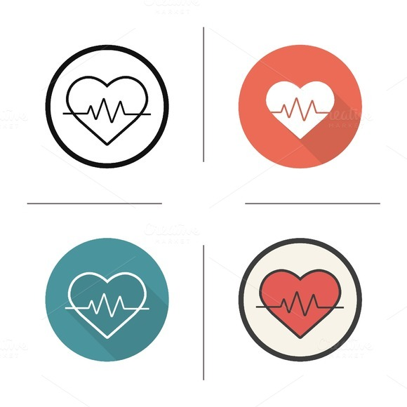 Heartbeat icon. Vector - Icons