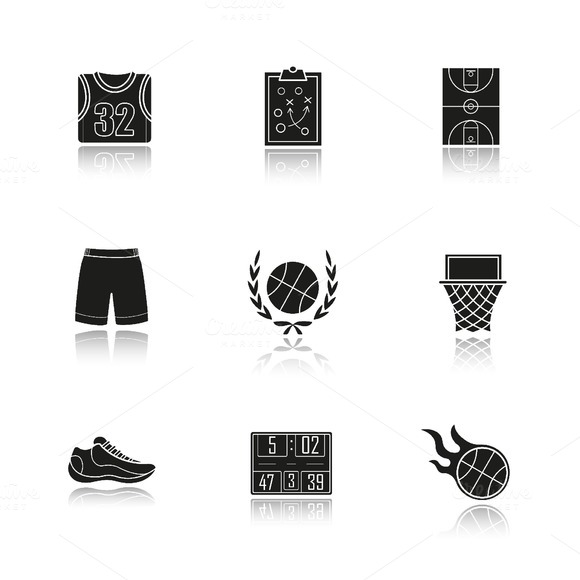 Basketball icons. Vector - Icons