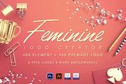 Feminine Logo Creator-Graphicriver中文最全的素材分享平台