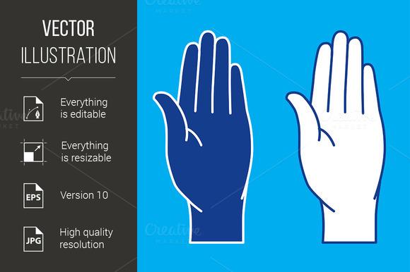Palms. Illustration. - Graphics