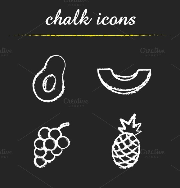 Fruit icons set. Vector - Icons