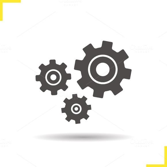 Cogwheels icon. Vector - Icons