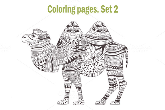 Coloring pages. Animals. Set 2 - Graphics