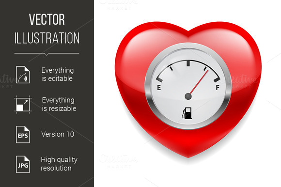 Heart with fuel indicator - Graphics