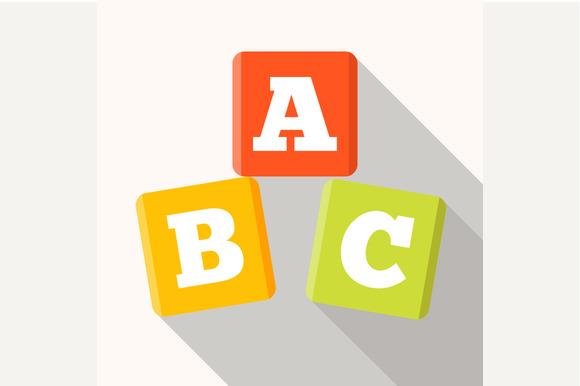 ABC Blocks Flat Icon