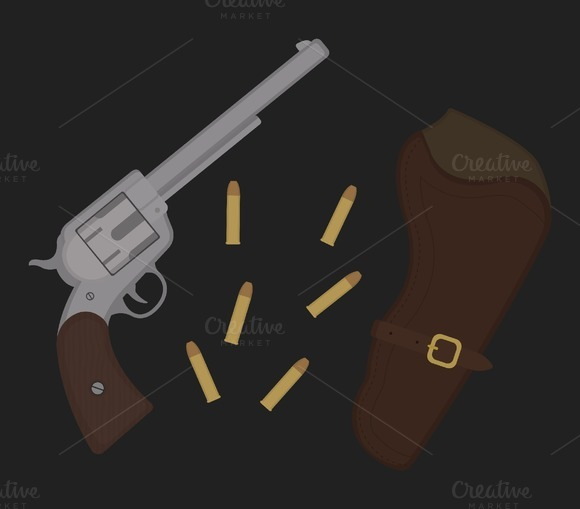Wild west revolver icon. Vector - Icons