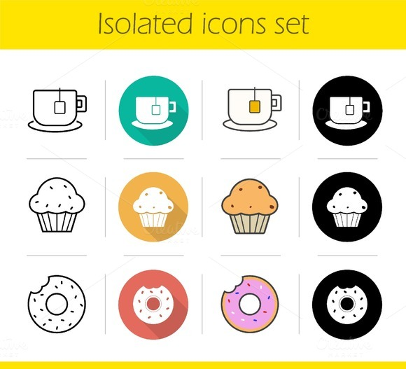 Tea icons set. Vector - Icons