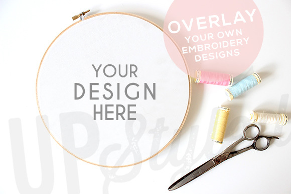 A178 Embroidery Hoop Mock Up