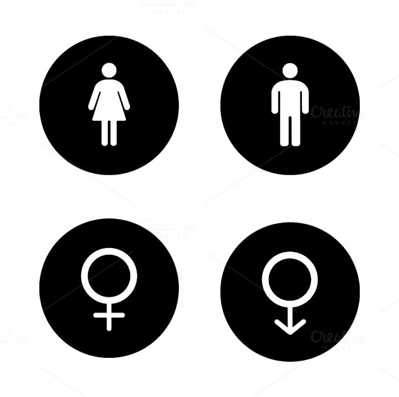 Wc entrance icons. Vector - Icons