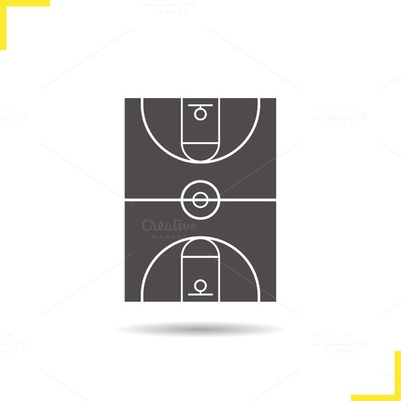 Basketball field icon. Vector - Icons