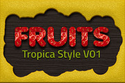 36 Tropical Fruit Styles Vo-Graphicriver中文最全的素材分享平台