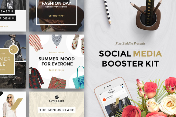 Social Media Booster Kit - Web Elements