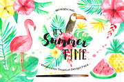 Summer Tropical Design Pack-Graphicriver中文最全的素材分享平台