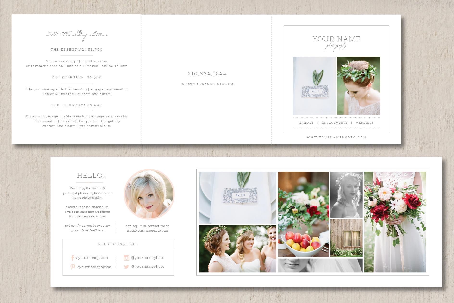 price list brochure template - wedding photography price list brochure templates on