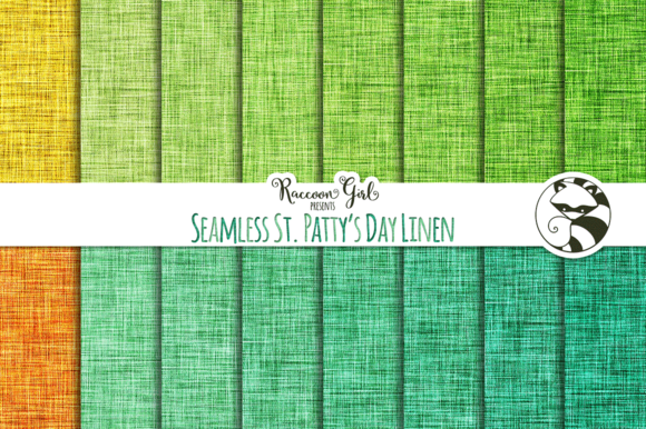 Seamless St. Patty's Day Linen - Textures