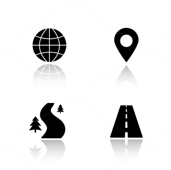 Gps map navigation icons. Vector - Icons