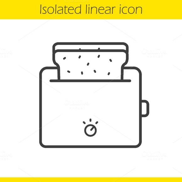 Toaster linear icon. Vector - Icons