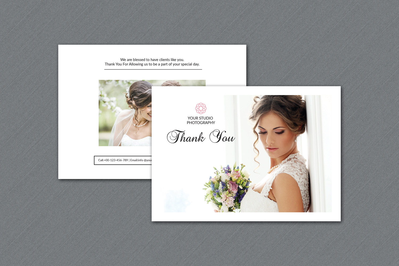 photographer thank you card v325 flyer templates on creative market. Black Bedroom Furniture Sets. Home Design Ideas