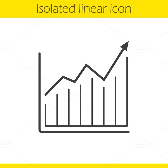 Growth chart linear icon. Vector - Icons