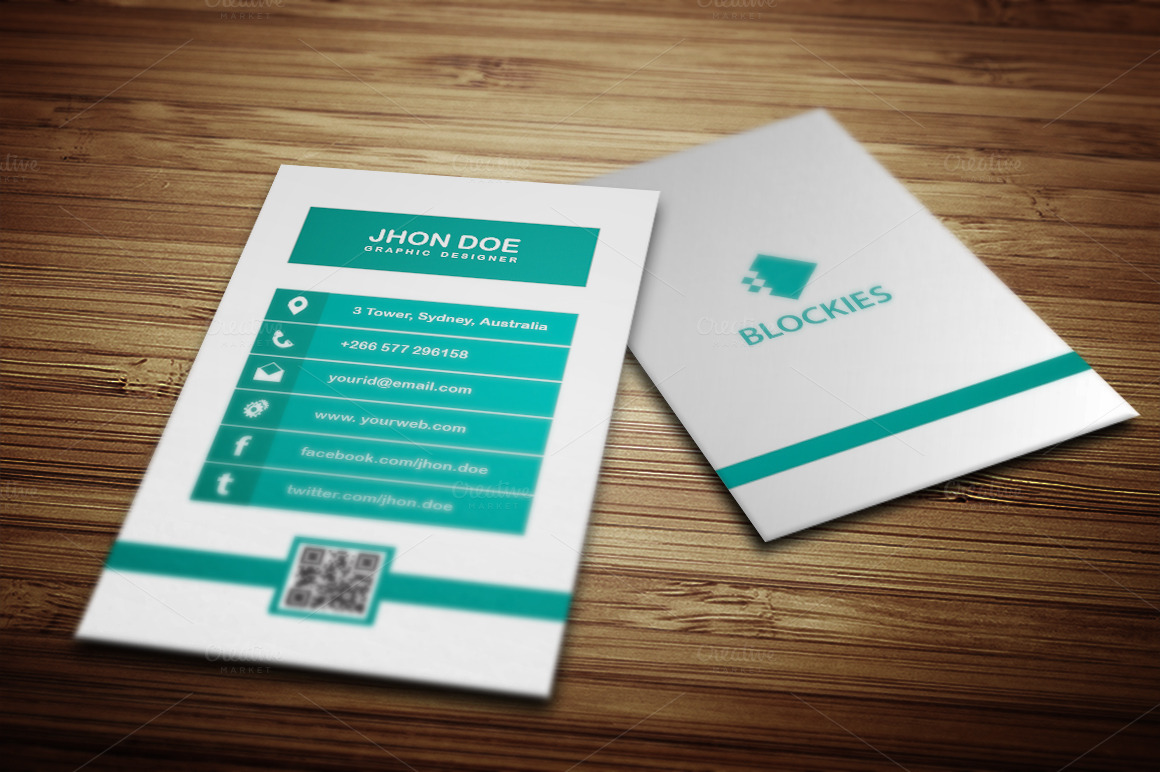 Minimalist Vertical Business Card Business Card