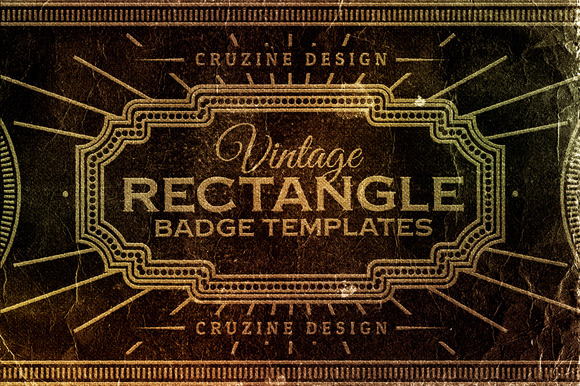 Rectangle Vintage Badges v.1 - Logos