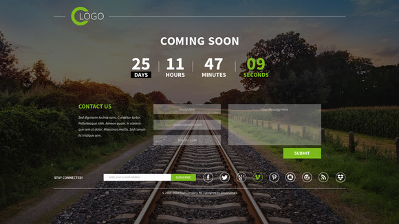free html5 coming soon templates ahmed faisal russel