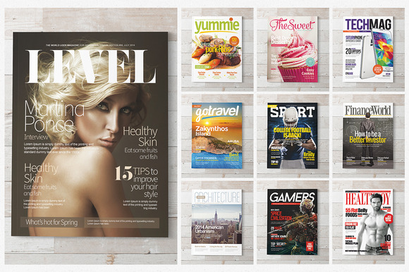 Magazine Covers Templates PSD - Magazines - 1
