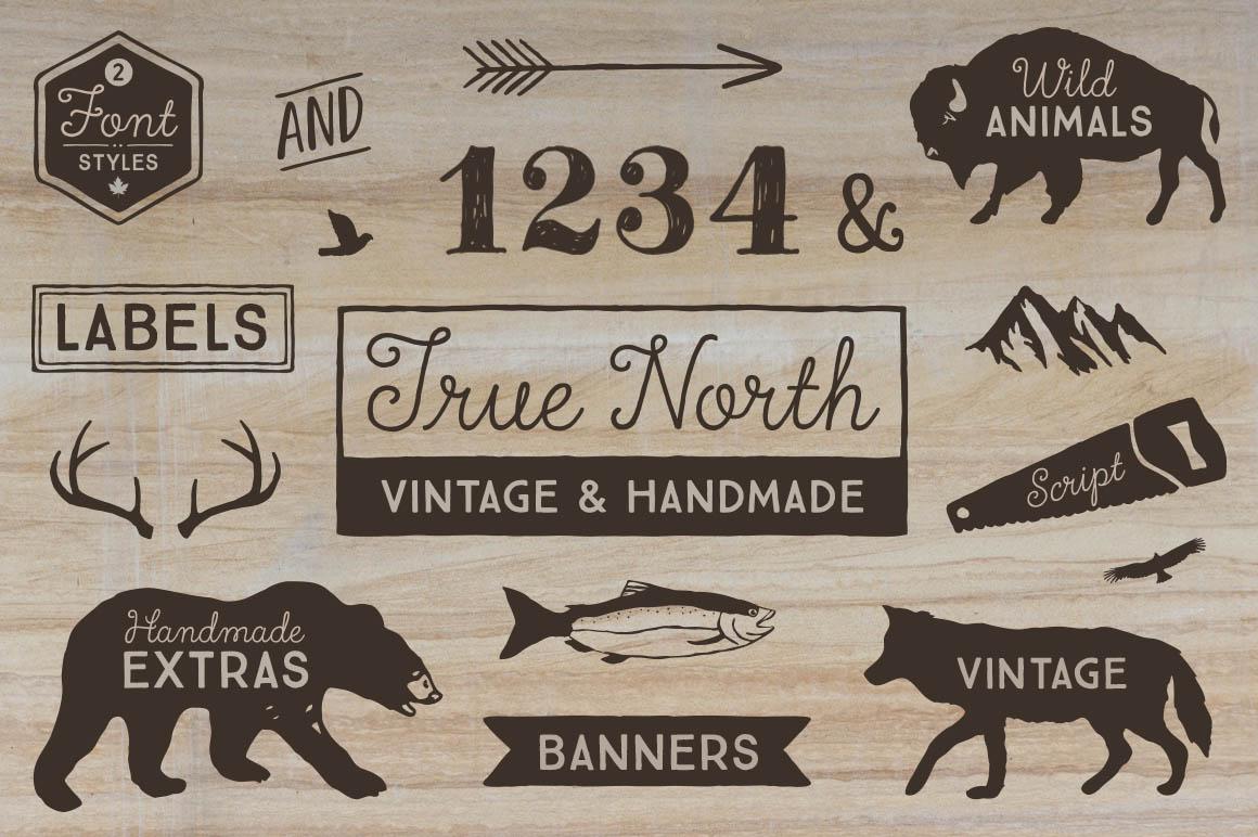 True north font pack script fonts on creative market