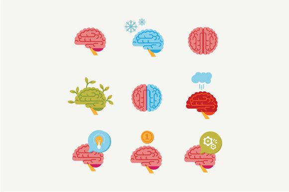 flat brain icon - photo #27